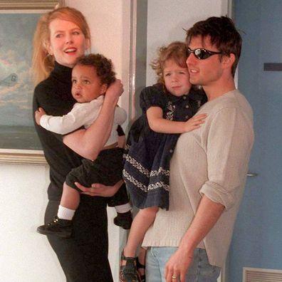 Nicole Kidman, Tom Cruise, Sydney Airport, children, Connor, Isabella, 1996