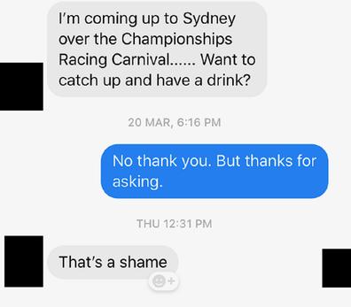 'No, not a shame actually.'