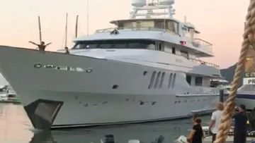 The multi-million-dollar superyacht crashed into a wharf in Cairns.