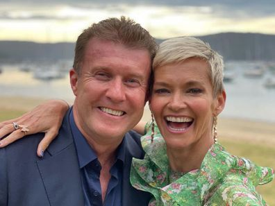 Jessica Rowe with her husband, Nine news presenter Peter Overton