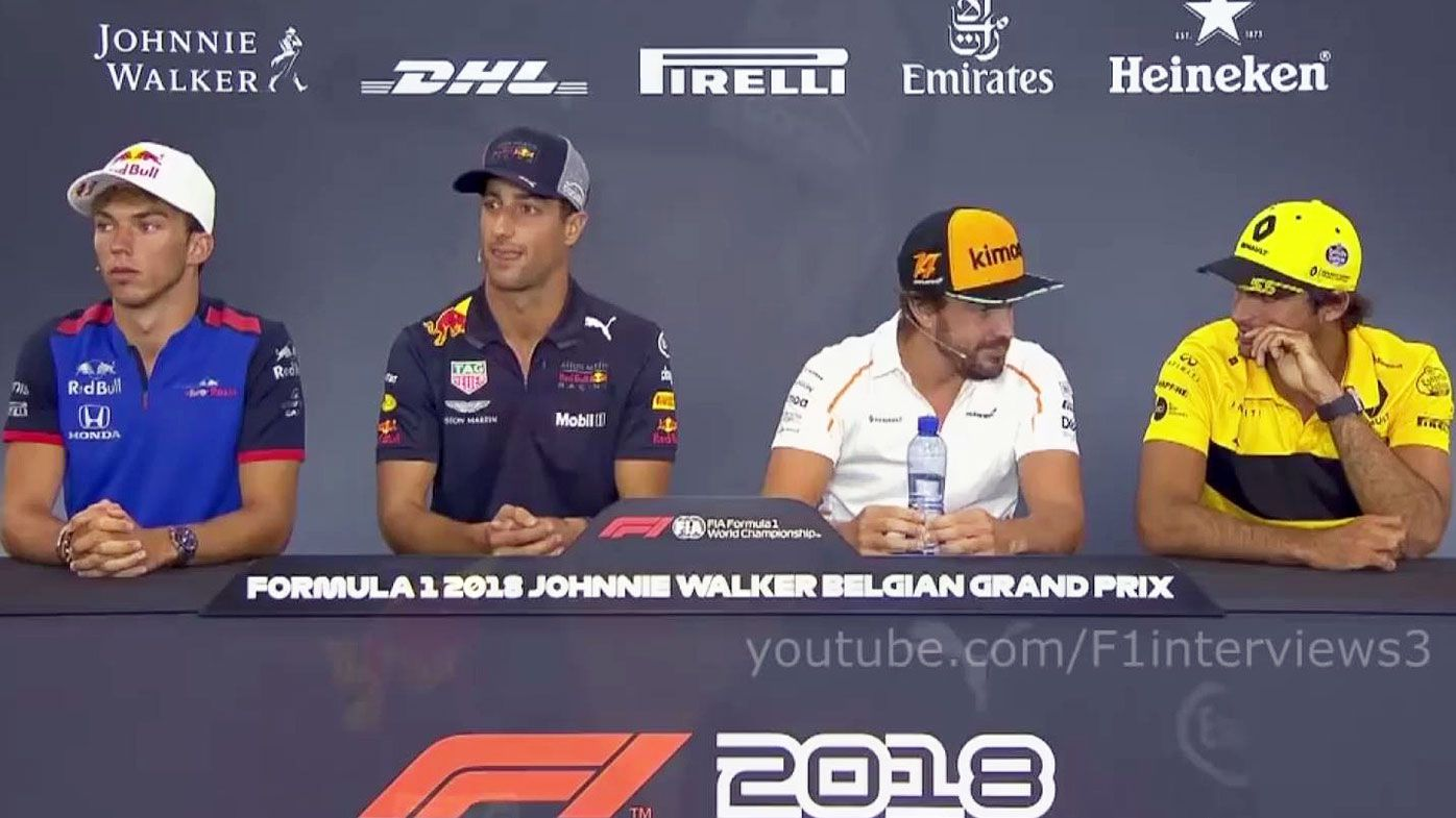 F1 Belgium GP: Fernando Alonso and Carlos Sainz snigger at 'Bulls--t' Daniel Ricciardo