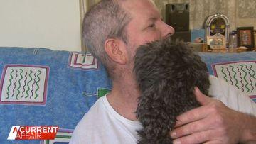 Blind man reunited with beloved support dog