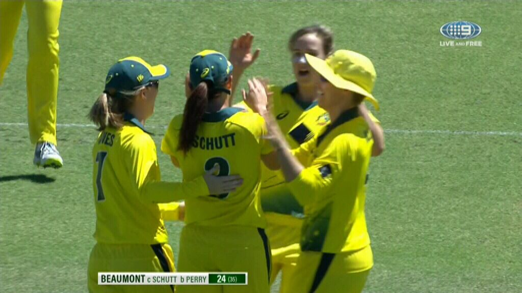 Aussies draw first blood in women's Ashes