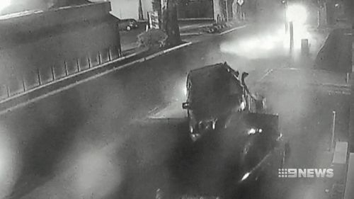 The crash was caught on CCTV.