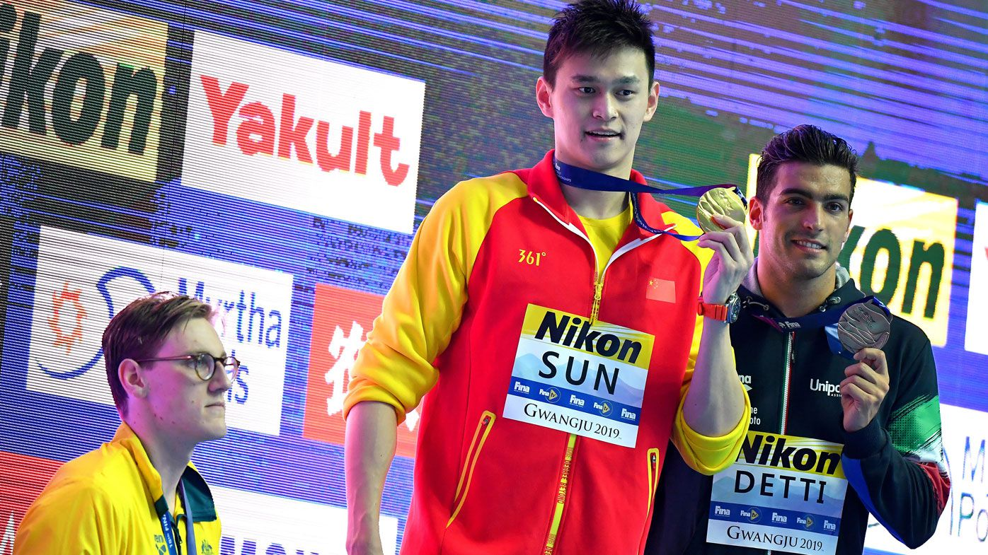 Swimmers face bans, stripped medals over podium protest after Sun Yang boycotts