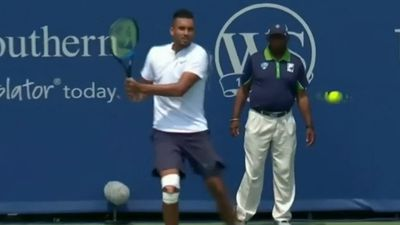 Kyrgios forgets shoes, wins in Cincinnati