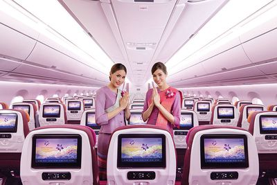 Thai Airways Economy Cabin