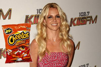 "Not sure to do with those leftover Cheetos? Try Britney Spears' homestyle recipe!<br/><br/><a href=""http://celebrities.ninemsn.com.au/blog.aspx?blogentryid=935047&showcomments=true"" target=""new"">CLICK HERE FOR THE RECIPE</A>"