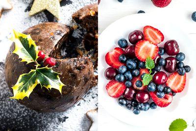 Swap pudding for seasonal fruit