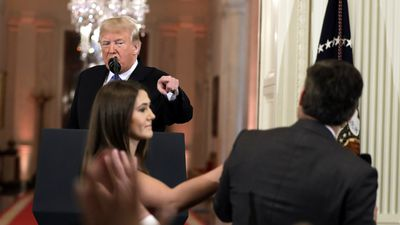 CNN reporter 'placed hands' on intern, White House claims