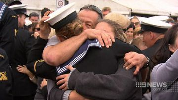 VIDEO: Families of HMAS Darwin crew reunited after seven months on patrol