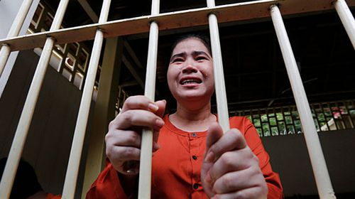 Cambodian protestorTep Vanny who was tried at the Supreme Court for demonstrating against the government. AFP.