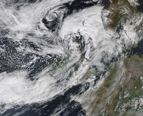 Handout satellite image issued by the University of Dundee at 1pm Wednesday (GMT).