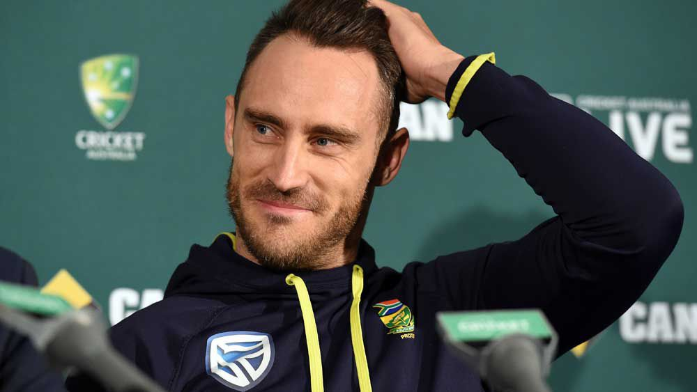 Aussies won't sledge me: Faf du Plessis