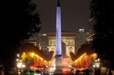 Festive lights along the Champs-Elysees