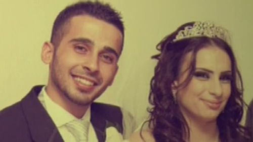 Kaled Zahab and Mariam Dabboussy on their wedding day.