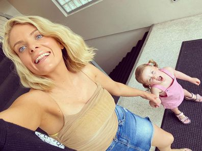 Erin Molan with her daughter Eliza.