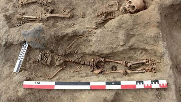 Archeologists in Peru have uncovered the remains of around 250 children sacrificed.