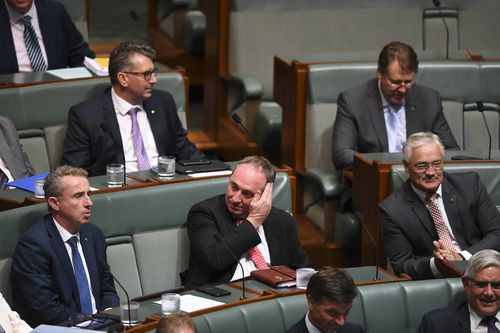The New England MP has ruled out any immediate move back into the top job. (AAP)