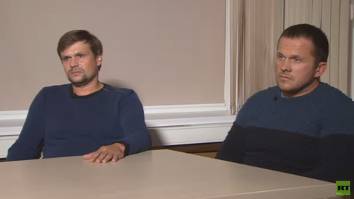The two men claim they are tourists in the UK and did not poison the victims
