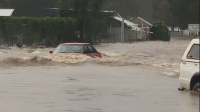 Floodwaters in Telegraph Point.