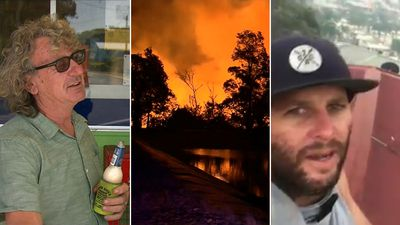 Brave Tathra locals tell of fighting wall of flames with garden hoses