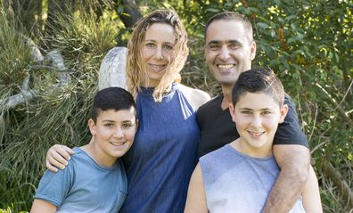 Yoav and family before Elaine's death