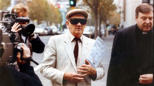George Pell accompanied his former colleague Gerald Ridsdale to court in 1993.