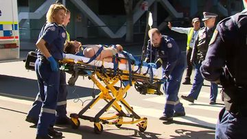 A man suffered critical injuries at a Darling Harbour wharf.
