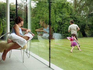 Women watching children play
