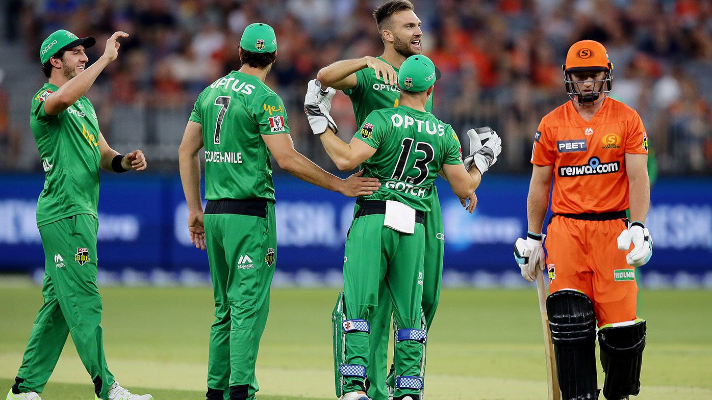 Stars win after skittling Scorchers for 86