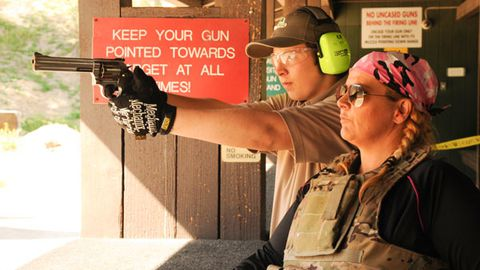 In pics: Ajay Rochester takes 14-year-old son to gun range after death threats