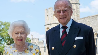 Queen Elizabeth and Prince Philip at Windsor Castle.
