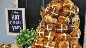 Hot Cross Bun Croquembouche