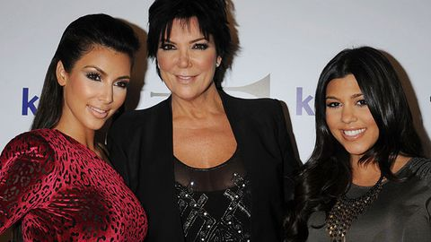 Kris Jenner with daughters Kim and Kourtney