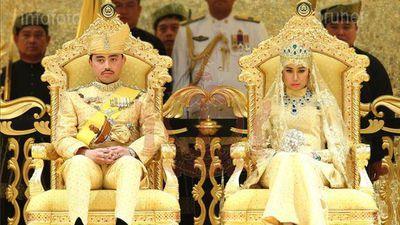 The son of the Sultan of Brunei Prince Abdul Malik, 31, has married Dayangku Raabi'atul 'Adawiyyah Pengiran Haji Bolkiah, 22, in a lavish, gold-soaked ceremony.