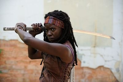 Michonne's Katana sword from <i>The Walking Dead</i>.<br/><br/>(Image: amctv.com/shop)