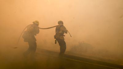 California wildfires: Fears strong winds will fan flames