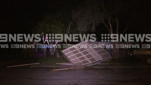 Logan had its greatest power outages since Cyclone Debbie. (9NEWS)