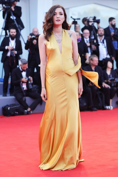 Eleonora Carisi at the 74th Venice Film Festival, September 3, 2017.