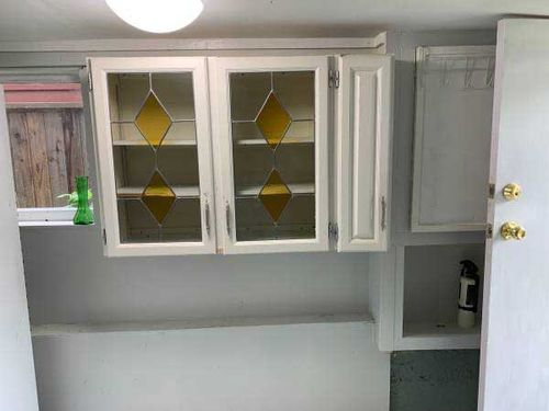 These cabinets are probably the nicest thing in the apartment.