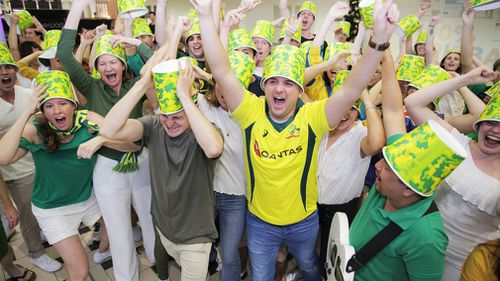 The 'KFC Bucketheads' have become a famous addition to Australian cricket, with the brand sponsoring the Big Bash League and partnering with Cricket Australia for the past 15 years. Picture: Supplied.