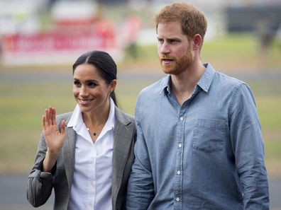 Meghan Markle and Prince Harry in Dubbo in 2018