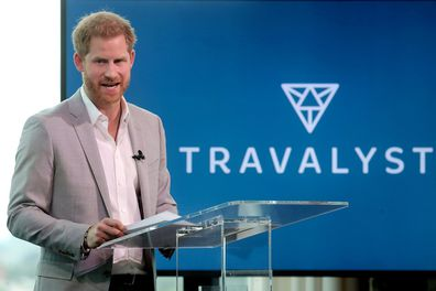 Prince Harry announces 'Travalyst' at A'dam Tower on September 03, 2019 in Amsterdam, Netherlands.