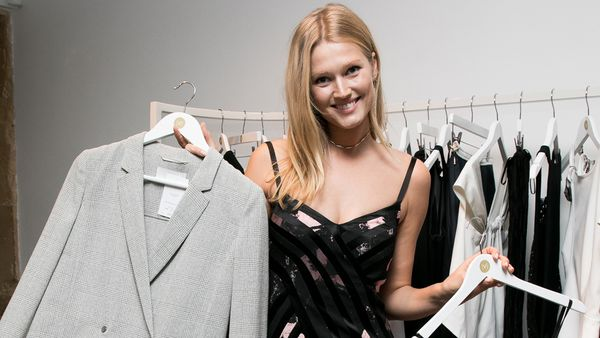 Supermodel Toni Garrn with Vestiaire Collective products. Image: Getty
