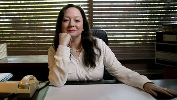 Actress Mandy McElhinney, who plays Gina Rinehart, said she needed to find a hook to make the character understood (9NEWS).