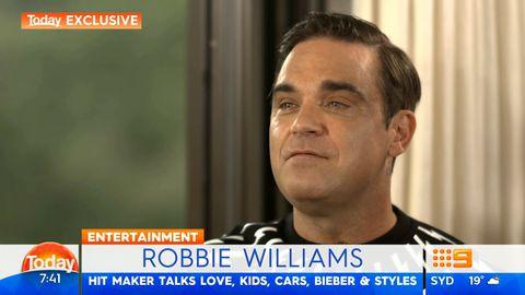 Richard Wilkins interviews Robbie Williams