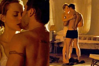 Zac's sex scene with the stunning Taylor Schilling for <i>The Lucky One</i>. Yep, she's pretty lucky alright!<br/><br/>(Image: Warner Bros)