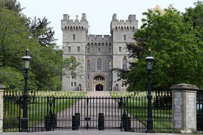 Windsor Castle, with Queen Elizabeth II in residence, on May 08, 2020.