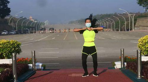 Khing Hnin Wai Myanmar workout video